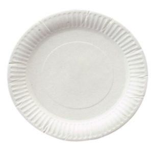 Papirnati tanjur d=200 mm bijeli glaziran (1300 kom/pak)