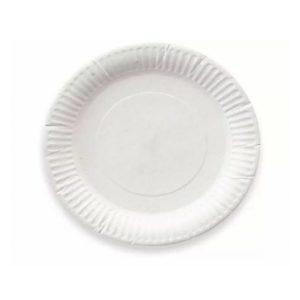 Papirnati tanjur d=165 mm bijeli glaziran (100 kom/pak)