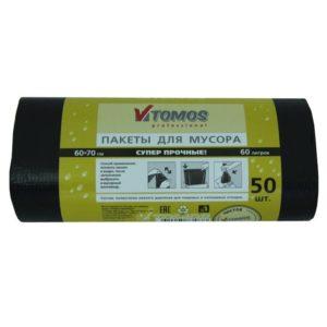 Vreća za smeće HDPE 60 L crna ToMoS 50 kom/rola