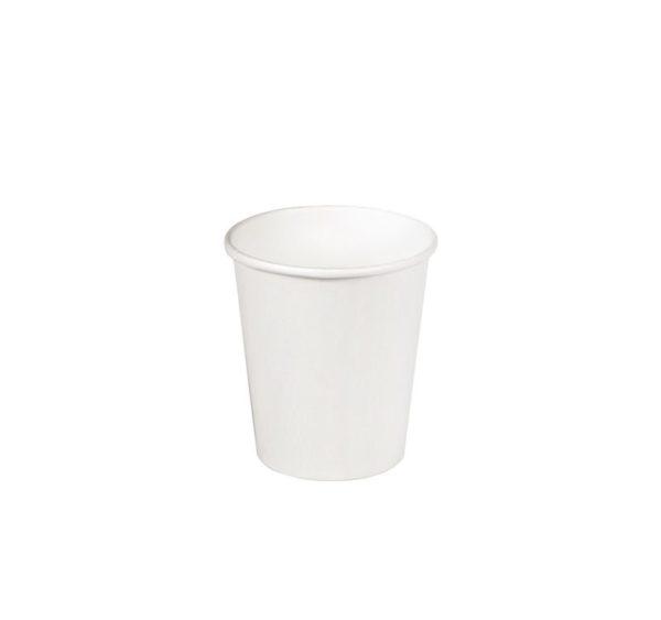 Čaša papirnata jednoslojna 85 (100) ml d = 73 mm za topla pića bijela (100 kom/pak)
