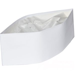 Zaštitna kapa vojnicka kapa papirnata bijela ToMoS 100kom/pak
