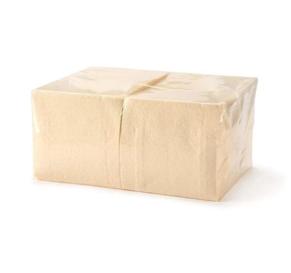Papirnate salvete 1 sl 24×24 cm Tambien šampanj 400 l/pak