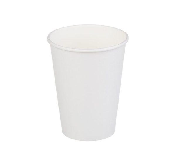 Čaša papirnata 350 ml d=90 mm 1-slojna bijela (50 kom/pak)