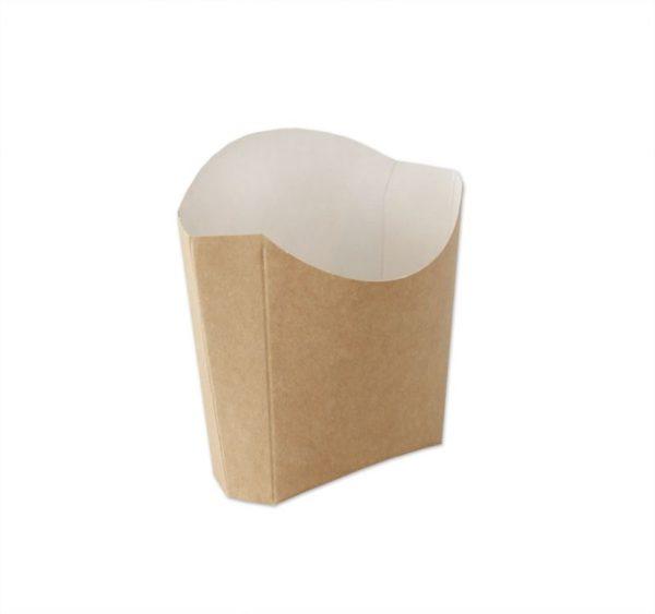 Kutija za pomfrit Ecoline (8x11x3.5 cm), kraft 80g (500 kom/pak)