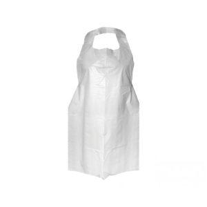 Pregača za jednokratnu upotrebu HDPE bijela ToMoS 100 kom/pak