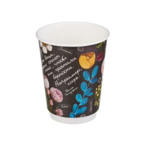 Čaša papirnata 300 ml d=90 mm 2-slojni Fleur di Cafw (20 kom/pak)