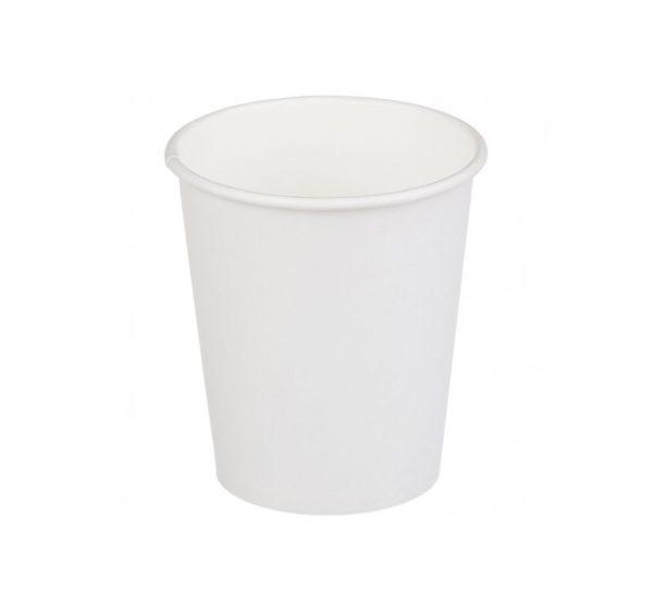 Čaša papirnata jednoslojna 250 (280) ml d=80mm za topla pića bijela (75 kom/pak)