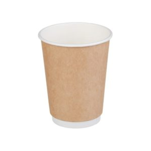 Čaša papirnata dvoslojna 300 (430) ml d=90mm kraft (25 kom/pak)