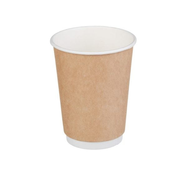 Čaša papirnata 300 ml d=90 mm 2-slojna kraft (25 kom/pak)