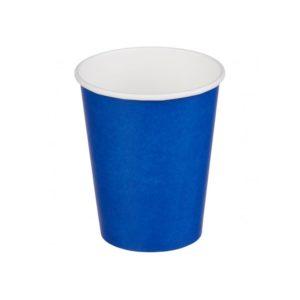Čaša papirnata 250 ml d=80 mm 1-slojna plava (50 kom/pak)