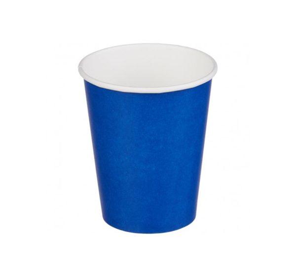 Čaša papirnata jednoslojna 250 (273) ml d=80mm za topla pića plava (50 kom/pak)