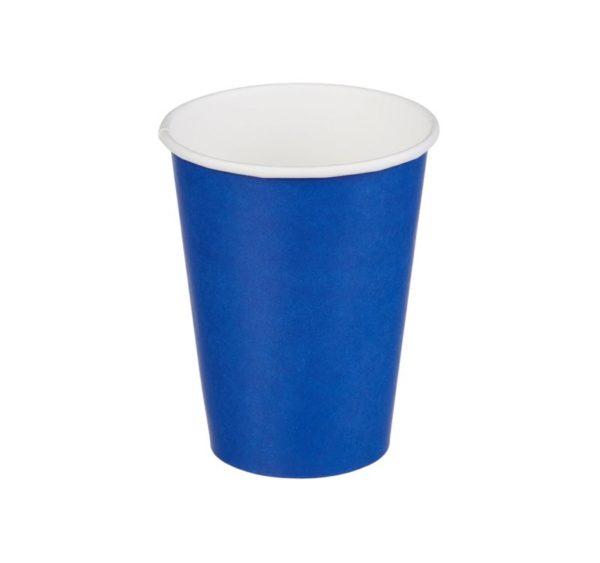 Čaša papirnata 300 ml d=90 mm 1-slojna plava (50 kom/pak)