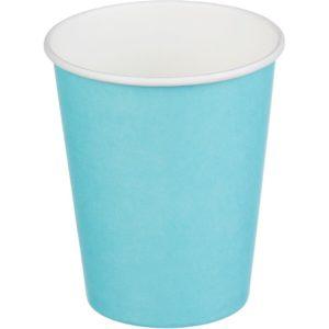 Čaša papirnata 250 ml d=80 mm 1-slojna tirkizna (50 kom/pak)