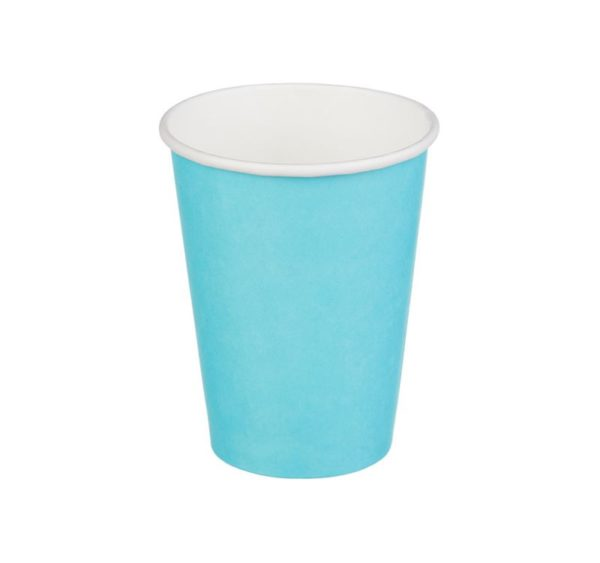 Čaša papirnata 300 ml d=90 mm 1-slojna tirkizna (50 kom/pak)