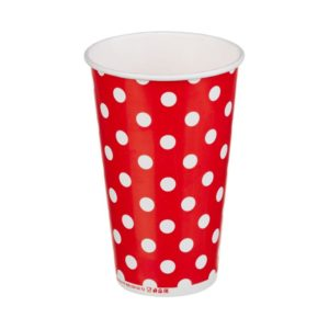 Čaša papirnata jednoslojna 400 (518) ml d=90mm za hladna pića Lollipop (50 kom/pak)