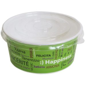 Papirnata posuda za salatu 750 ml d=150 mm h=60 mm Fiesta za poklopcem, 100 kom (komplet)