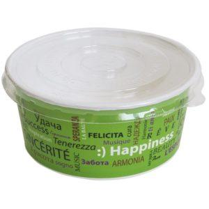 Poklopac plastični PS d = 150 mm za posudu papirnatu 750 ml za salatu, plitak (100 kom/pak)