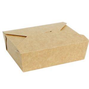 Posuda papirnata Fold Box 600 ml 130x110x65 mm, kraft (50 kom/pak)