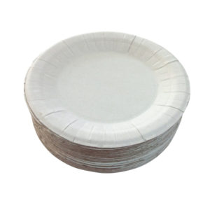 Papirnati tanjur d=230 mm bijeli glaziran (250 kom/pak)