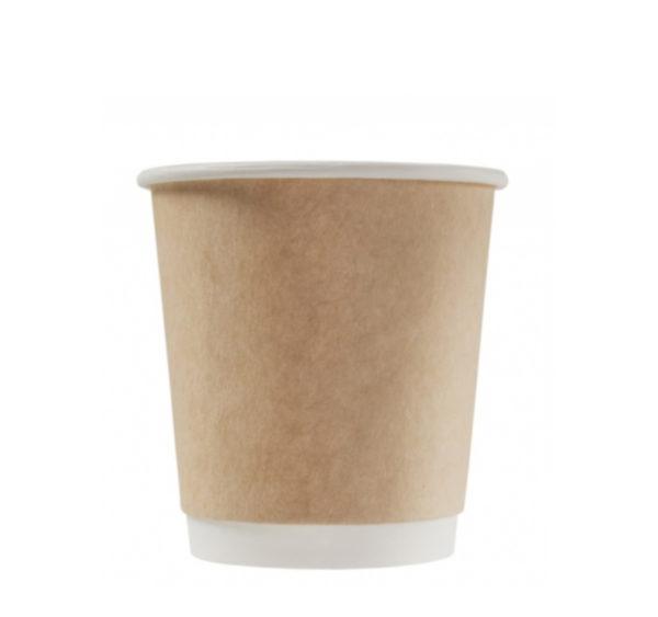 Čaša papirnata 250 ml d=80 mm 2-slojna kraft (25 kom/pak)