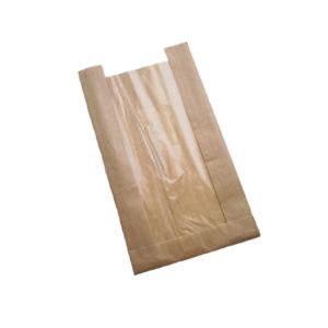 Vrecica papirnata 130(50) х50х300 s prozorom, kraft (1500 kom/pak)