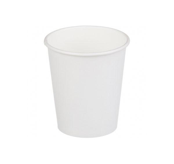 Čaša papirnata 250 ml d=90 mm 1-slojna bijela (50 kom/pak)
