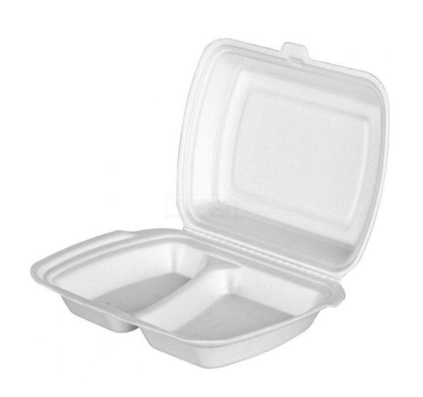 Kuzija za ručak preklopna Lunch box EPS LB-2 2 odeljka 250 x 206 x 65 mm (100 kom)