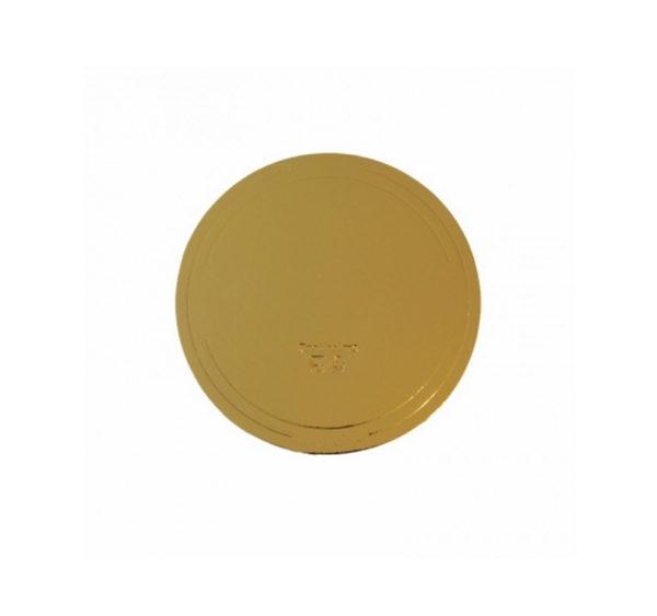 Podmetač krug za torte karton d=240 mm zlato/bijeli biser (10 kom/pak)