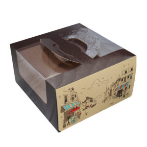 Kutija za tortu s prozorom, s ručkama 230х220х120 mm 1 kg Rendezvous (5 kom/pak)