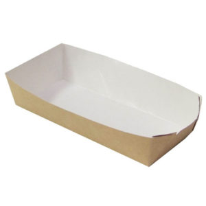 Papirtnata plitica za hot dog ECO HD 165x70x40 mm kraft (800 kom/pak)