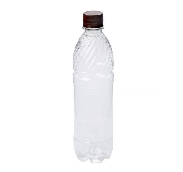 Boca plastična 0.5 L s poklopcem (10 kom/pak)