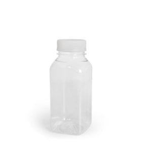 Flasa s belim poklopcem 0.3L ml d-38mm kvadrat – brez pokrovcka (100 kom/pak)