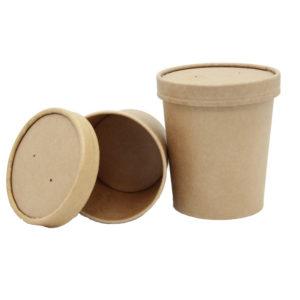 Papirnata posuda za juhu Tambien ECO 340 ml d=90 mm h=85 mm kraft (25 kom/pak)