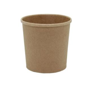 Posuda papirnata za juhu Tambien ECO 340 ml d-90 mm, h-85 mm, Kraft s poklopcem, 25 kom (komplet)