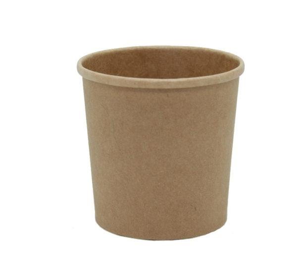 Posuda papirnata za juhu Tambien ECO 340 ml d-90 mm, h-85 mm, Kraft (25 kom/pak)