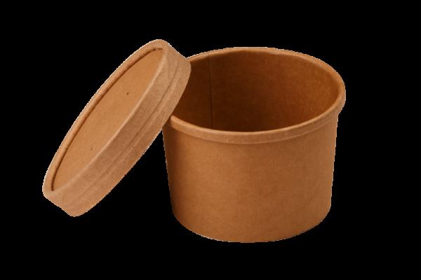 Posuda papirnata za juhu Tambien ECO 240 ml d-90mm, h-60mm, kraft (25 kom/pak)