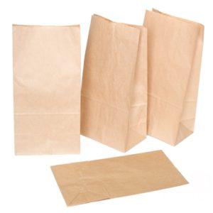 Papirnata vrećica 120x80x330mm, kraft (1000 kom/pak)