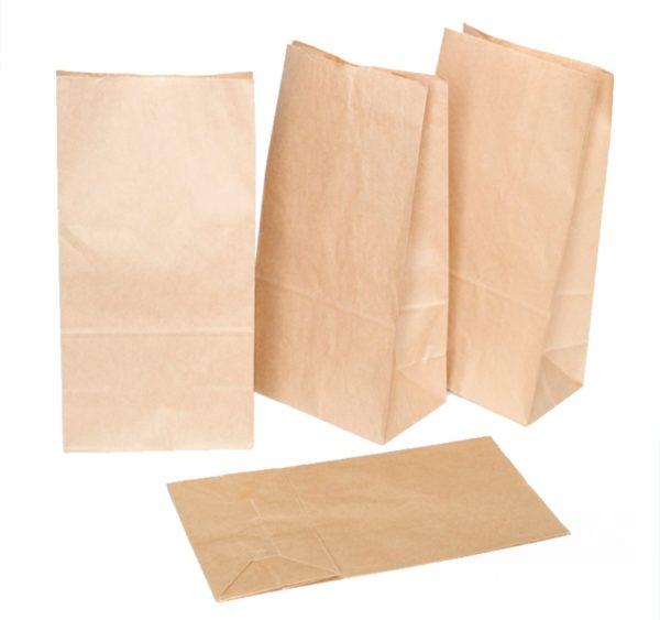 Vrećica papirnata 120x80x330mm, kraft (350 kom/pak)