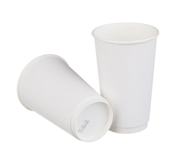 Сaša papirnata 400 ml d=90 mm 2-slojna bijela (18 kom/pak)
