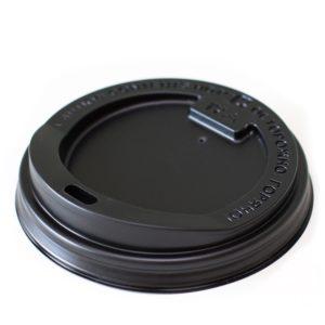 Poklopac s rupom PS d=80 mm crni (100 kom/pak)