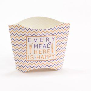 Kutija za pomfrit 34х75х102 mm, srednja Happy Life (800 kom/pak)