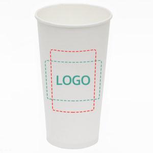 Čaša papirnata 500 ml d=90 mm 1-slojna bijela (45 kom/pak)