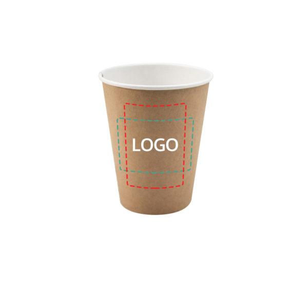 Čaša papirnata 350 ml d=90 mm 1-slojna kraft (37 kom/pak)