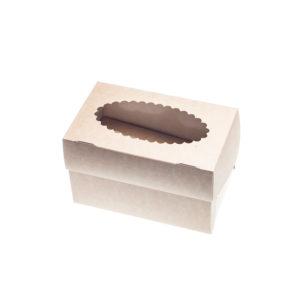 Posuda za muffine s prozorom 100x160x100mm kraft (500 kom/pak)