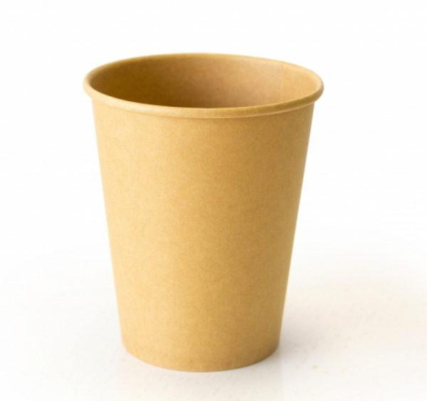 Čaša papirnata 250 ml d=80 mm 2-slojna kraft/kraft (25 kom/pak)