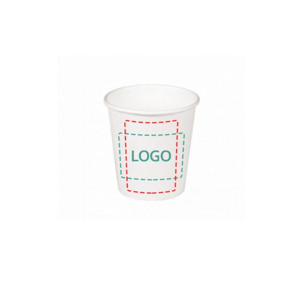 Čaša papirnata 250 ml d=80 mm 2-slojna bijela (20 kom/pak)