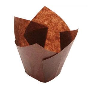 Papirni kalupi Tulipan 150/50, 200 kom / pak, smeđa