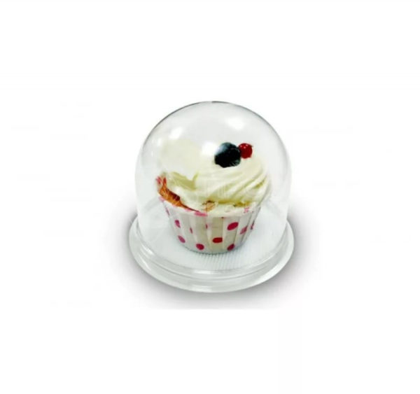 Posuda za deserte d=85 mm (110x82mm)  prozirna (poklopac) (390 kom/pak)