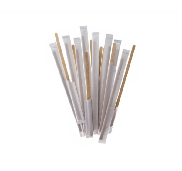 Štap za miješanje drven 14 cm pojedinacno pakiranje 500 kom/pak