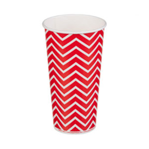 Čaša papirnata 1sloj 500 (650) ml d=90mm za hladna pića Lollipop (50 kom/pak)
